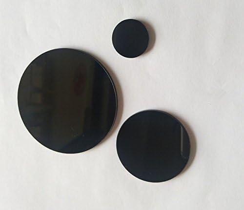 "Thick Acrylic Plexiglass AZM 10 PACK 3/"" Black Circle Round Disc 1//8/"" 3mm"