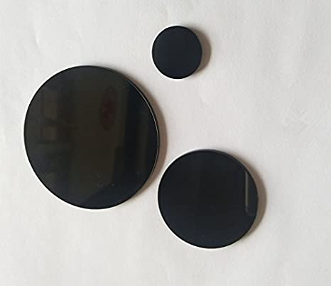 Black 2cm Round Circle Acrylic Mosaic Tiles