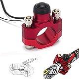 JFGRACING - Interruptor universal para motor de motocicleta CNC con placa trasera de montaje para manillar de 7/8 pulgadas ATV, Dirt Pit Bike, Scooter, Quad