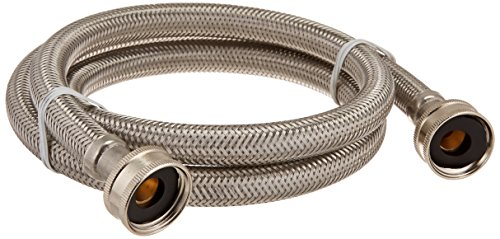 Certified Appliance Accessories Braided Stainless Steel Washing Machine Hose, 4ft