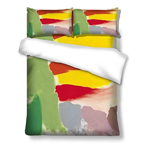 MMHJS Funda Nórdica De 3 Piezas con Patrones Abstractos De Colores Adecuado para Cama Individual, Ropa De Cama Doble Decoraciones Personalizadas para El Hogar