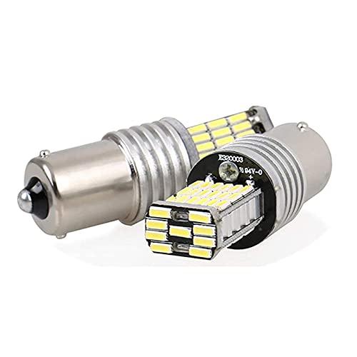 CICMOD 2 x 1000 Lumen Canbus Error Free 1156 BA15S P21W 45 * 4014 SMD, Bombillas LED para la Luz de Coche, Blanco 6500K