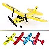 Tbaobei-Baby Jouet d'avion RC Radio Avion contrôle Planeur Avion Modèle UAV Hobby Prêt-à-Fly RC Jouet for Enfants Jouets Décompression (Color : Yellow, Size : One Size)