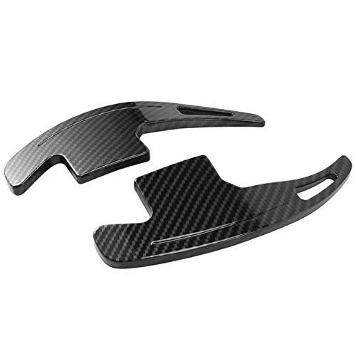 ZIHAN Feil Store Ajuste para Ford Mustang 2015-2020 Transporte de la Rueda de la Rueda del automóvil Cambio de Remo de la Paleta de la extensión Accesorios de Estilo de Fibra de Carbono