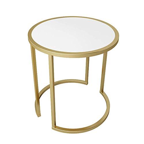 NBVCX Möbeldekoration Runder Marmor Beistelltisch/Beistelltisch/Nachttisch 54 * 56CM (Farbe: SCHWARZ) (Farbe: Weiß)