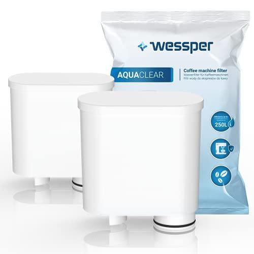 Wessper 2er Pack AquaClear Wasserfilter Für Saeco und Philips Kaffeevollautomat AquaClean CA6903/10 CA6903/22 CA6903 Kalkfilter