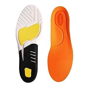 Inserciones de Fascitis Plantar, Plantillas de Zapatos ortopédicos para Hombres y Mujeres, Plantillas de Confort atlético Absorción de Choque Adicional Plantillas de Trabajo (L:41-45)