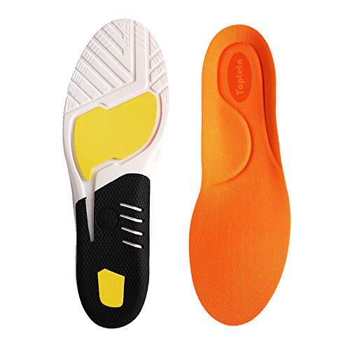 Inserciones de Fascitis Plantar, Plantillas de Zapatos ortopédicos para Hombres y Mujeres, Plantillas de Confort atlético Absorción de Choque Adicional Plantillas de Trabajo (M:35-40)
