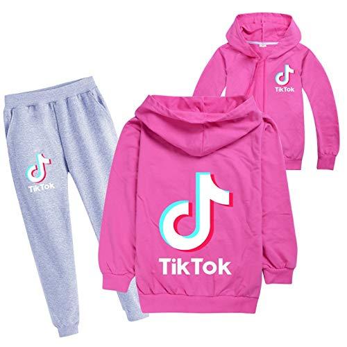 NIGHTMARE Mode Pullover + Hose Jogginghose Kleidung Set Hose Tik ToK TikTok Mode Baumwolle Cardigan Langarm Anzug 140cm
