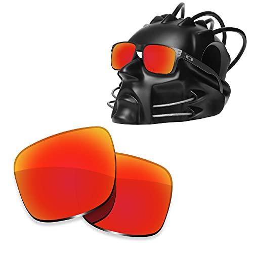 ToughAsNails Reemplazo de lente polarizada para Oakley Holbrook OO9102 Sunglass - Más opciones, Naranja Fuego, Talla única