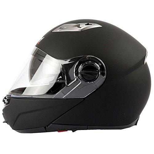Mach1 Flip Up Klapphelm Helm Motorradhelm mit Integrierter Sonnenblende Größe XS bis XXL