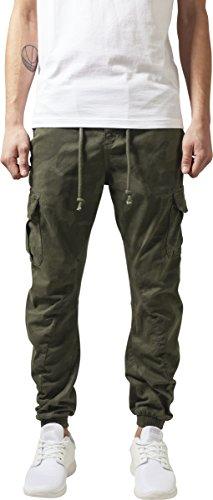 Urban Classics Herren Cargo Jogging Pants Hose, Olive Camo, W42