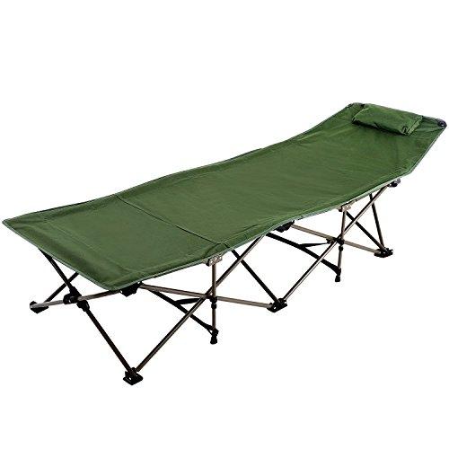 REDCAMP Feldbett Klappbar, 190 x 71 cm Campingliege, Camping Bett, Klappbett für Reisen Home Lounging Verwenden, Belastbarkeit bis 200 kg, Militär Grün