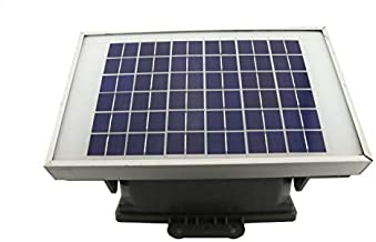 Fence Master Solar 12 Volt Battery Fence Charger | Powerful 6 Mile 12,000 Volt Low Impedance Electric Fence Charger | Solar Panel for DC Power, Battery included | 5 Year Warranty | Made in the USA