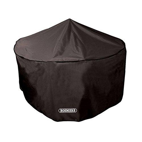 Bosmere Protector 6000 Storm Black 6-8 Seat Circular Patio Set Cover - Black, D523