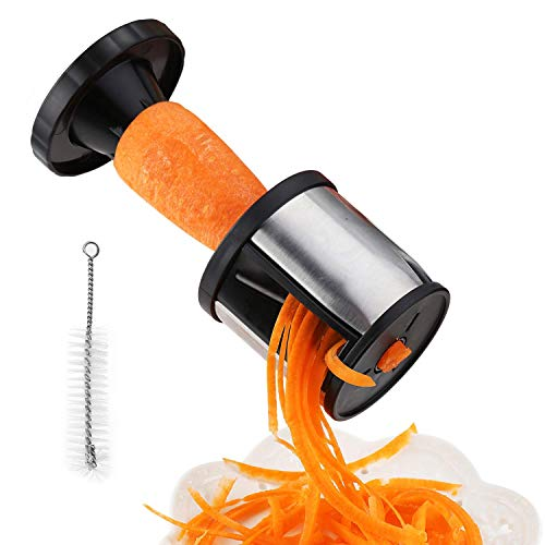 Dispositivo de trituración de verduras Espiral de patata Zanahoria de mano Dispositivo de trituración de frutas Cortadora de espiral de verduras Cortadora de espiral