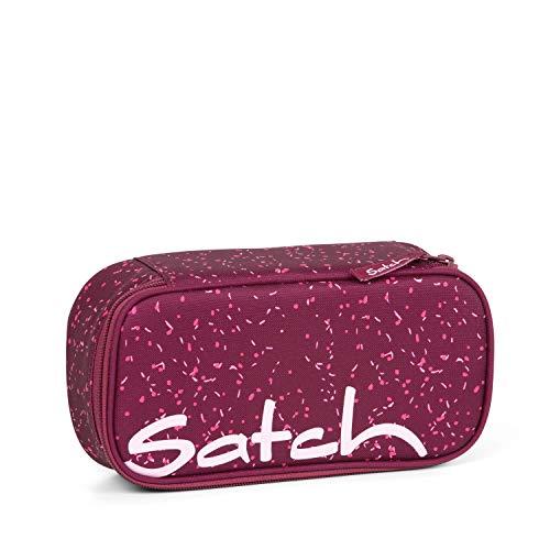 Satch Schlamperbox Berry Bash, Mäppchen mit extra viel Platz, Trennfach, Geodreieck, Lila