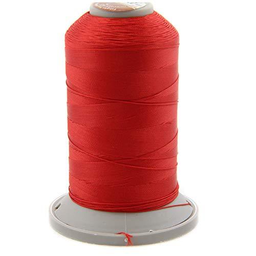 NTS Nähtechnik 1000 m de hilo de coser, hilo de cuero 20, selección de colores, hilo de filamento para cuero (rojo)