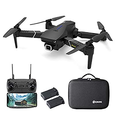 EACHINE E520S, Drone with Camera for Adults, Drone 4K Camera, Drone GPS Return Home, 5G WIFI FPV, 250m FPV Distance, Drone Long Flight Time, 16 Minutes, Drone Foldable (2 Batteries with Carrying Case)