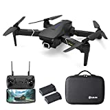 EACHINE Drone avec Camera 4k HD GPS 5G-WiFi E520S Pliable FPV Mallette/Sac Quadcopter, De Deux 1200mAh Batteries Inclus