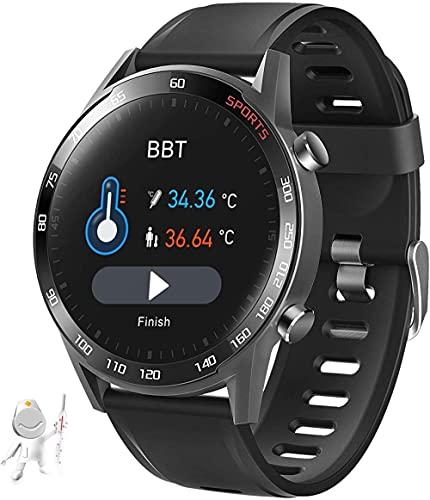 Reloj inteligente masculino fitness tracker con ritmo cardíaco sueño ejercicio actividad tracker para Android Los-Black