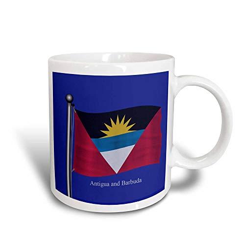 485 Kaffeebecher, Kinder Teetasse Männer Kaffeetassen Personalisierte Bubble Tea Becher,Die Flagge Von Antigua Und Barbuda Weht Auf Blauem Hintergr& Magic Transforming Mug 330Ml Multicolor