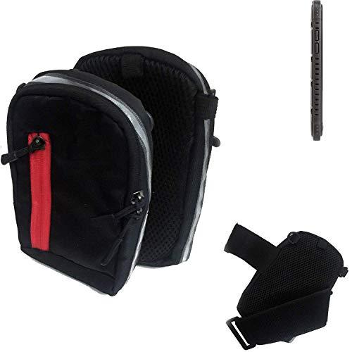 K-S-Trade® Outdoor Gürteltasche Holster Umhängetasche Für Cyrus CS 35 Schwarz Handytasche Case Travelbag Schutzhülle Handyhülle