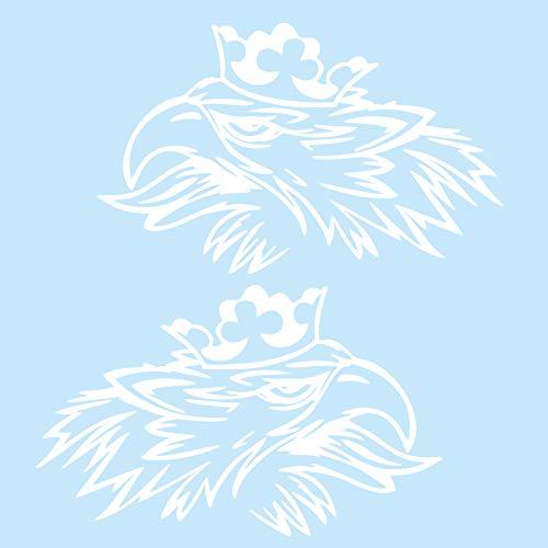 Finest Folia Greif Dekor Aufkleber Set (Links und rechts) Aufkleber LKW Folie Rauten Scollops Zacken Ornamente (K075 Weiß Glanz)