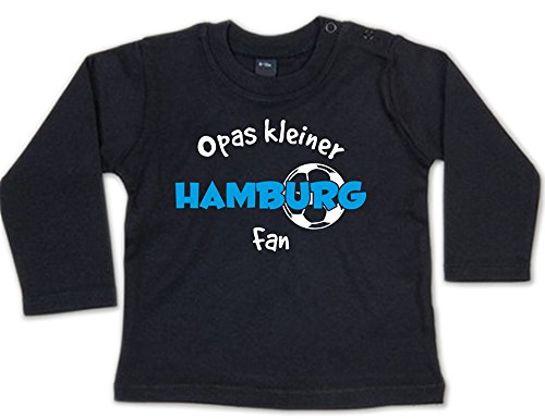G-graphics Opas Kleiner Hamburg Fan Baby Sweatshirt 268.0285 (3-6 Monate, schwarz)