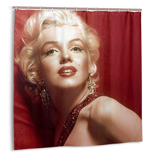 FUNK-P STAR Shower Curtain Bathroom Set Decoration with Hook Curtain Sexy Personality Unique Fashion Printing Shower Curtain Set (72in 72in)