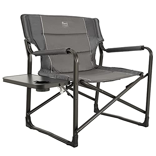 TIMBER RIDGE Oversized Directors Chairs with Side Table, Heavy Duty Folding Camping Chair up to 600...