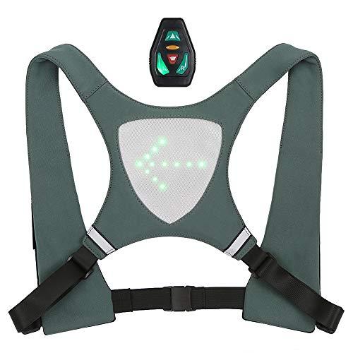 Lixada Gilet À Dos Réfléchissant de Vélo USB Rechargeable avec LED Clignotant Télécommande Télécommande Sport en Plein Air Sac de Sécurité Vitesse pour Vélo Courir Marche Jogging