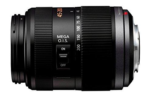 Panasonic H-FS045200E Telezoom-Objektiv Lumix G F4-5,6/ 45-200 mm (90-400 mm KB, bildstabilisiert, 52 mm Filtergewinde) schwarz