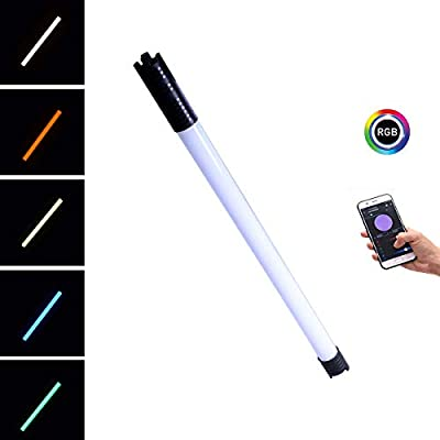 DF DIGITALFOTO Chameleon RGB Tube Light LED,2800-9990K 2 Feet Color Temperature Rechargeable Continous Light for Photography