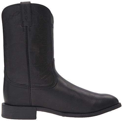 Ariat Men's Heritage Roper Western Cowboy Boot, Black, 7.5 Wide