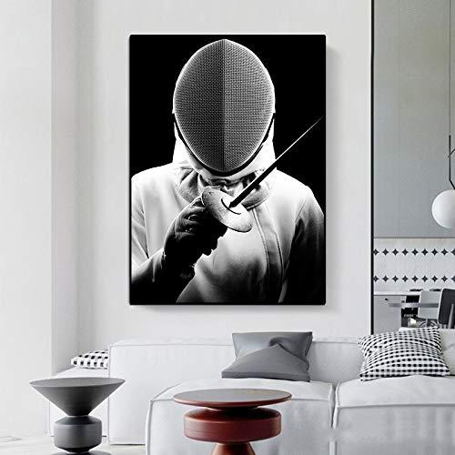 Frameloze schermen sport stijl foto's hoge kwaliteit canvas aangepaste print type moderne huisdecoratie muur poster voor kamer decoratie <> 40x60cm