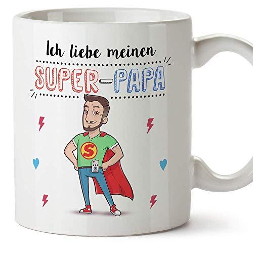 Mugffins - Papa Tasse/Becher/Mug - Super Papa - Kaffeetasse als Vatertagsgeschenk. Keramik 350 ml