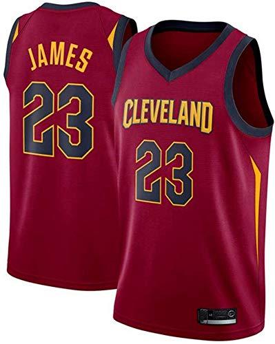 Wo nice Camisetas De Baloncesto para Hombre, Cleveland Cavaliers # 23 Lebron James NBA Verano Suelto Y Transpirable Camisetas Chalecos Casuales De Baloncesto Uniformes Deportes Tops,Rojo,S(165~170CM)