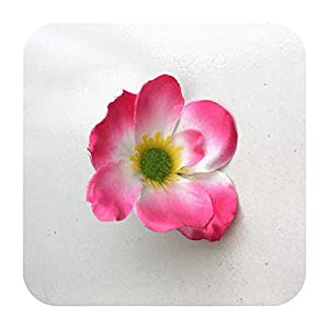 Hopereo 15Colors 7Cm Artificial Silk Poppy Flower Heads for DIY Wedding Decoration Hairpin Wreath Accessories Festival Supplier-3-15 Pieces
