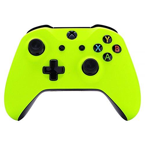eXtremeRate Cover Custodia Anteriore Copertura Frontale Guscio DIY Pezzo di Ricambio per Xbox One S X Controller Model 1708(Giallo Fluorescente)