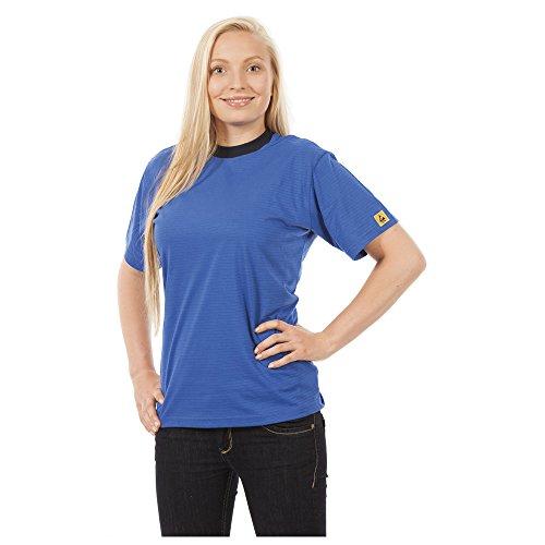 Warmbier ESD-T-Shirt, Größe L, Farbe blau
