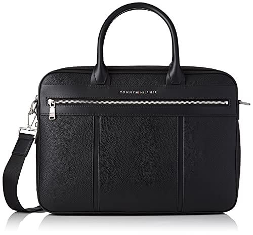 Tommy Hilfiger Th Downtown Slim Comp Bag, Sac d'ordinateur Homme, Noir, Medium