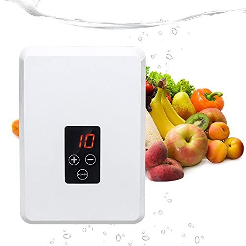 Home Care - Generador de ozono con temporizador, 500 mg/h portátil, máquina de tratamiento de generador de ozono multifunción para desinfectar agua, frutas, verduras, digital, portátil