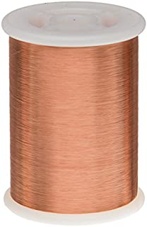 Remington Industries 42.5SNSP.25 Magnet Wire, Enameled Copper Wire Wound, 42.5 AWG, 4 oz, 13908' Length, 0.0025