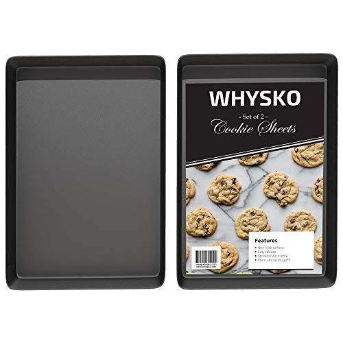 """Non Stick Bakeware Set, Includes 2 Cookie Sheets, 12"""" x 17.5"""" Half Sheet Baking Trays, Cake and Cookie Baking Pans, Oven Safe, Warp and Rust Resistant"""