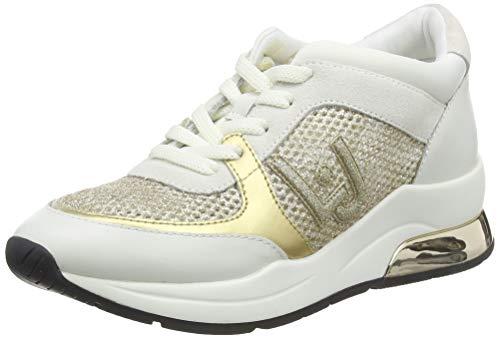 LIU JO Shoes Karlie 12-Sneaker, Zapatillas Mujer, Blanco (White 01111), 37 EU