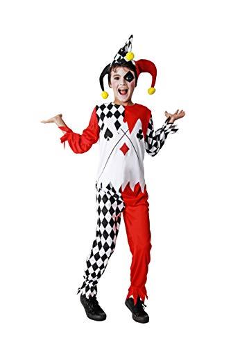 Costumizate! Disfraz de Arlequín Talla 10-12 Especial para niños Fiestas de Disfraces o Carnaval