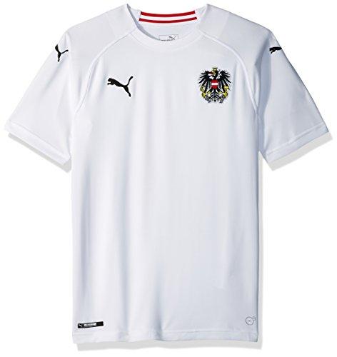 PUMA Austria Replica Shirt Maglietta Sportiva da Uomo, Colore Bianco, XL