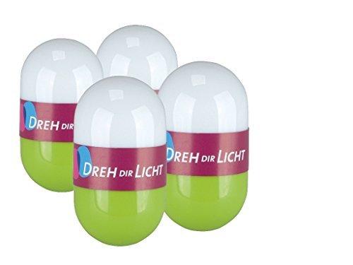 Dreh dir Licht - 4er Set LED-Lichter Grün