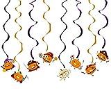 LQH Dibujos Animados del Gato Bate Bruja de la Calabaza de Halloween Colgante Espiral Colorido de...